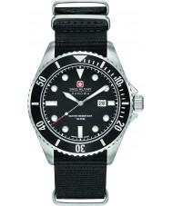 Swiss Military 6-4279-04-007-07 Mens Seelöwe schwarze Nylonband Uhr