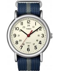 Timex T2N654 Herren blau grau Weekender durchrutschen Uhr