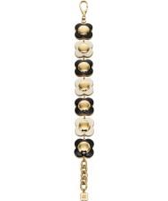 Orla Kiely B4796 Damen Daisy-Chain-18-karätigem Gold monochrome Blumenarmband