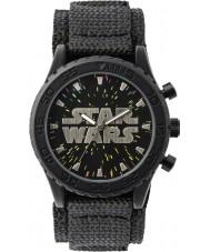Disney STW1301 Jungen schwarz Klett Uhr mit starry Wahl