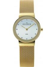 Skagen 358SGGD Damen klassik Weißgold Mesh Uhr