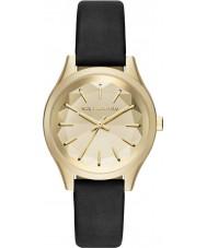 Karl Lagerfeld KL1617 Damen Teller schwarzes Lederband Uhr