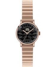 Orla Kiely OK4012 Damen frankie matt schwarz Roségold vergoldet Uhr
