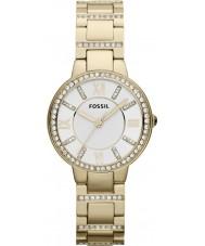 Fossil ES3283 Damen Virginia vergoldete Armbanduhr