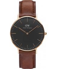 Daniel Wellington DW00100136 Klassisches Schwarz st mawes 36mm Uhr