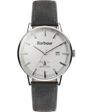 Barbour BB043WHGY Mens whitburn grau Lederband Uhr