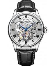 Rotary GS02940-06 Herren-Uhren silber schwarz Skelett mechanische Uhr