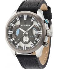 Police 14639JSTU-04 Mens Zyklon schwarzes Lederband Uhr
