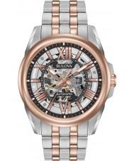 Bulova 98A166 Mens-automatische zwei Ton stieg Armbanduhr