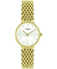Rotary LB00900-01 Damen vergoldete Uhr