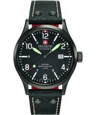 Swiss Military 6-4280-13-007-07 Mens Undercover-schwarzes Lederband Uhr