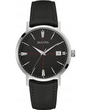 Bulova 96B243 Mens Aerojet schwarzes Lederband Uhr