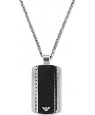 Emporio Armani EGS1921040 Mens glatten Samt zwei Ton Stahl Halskette
