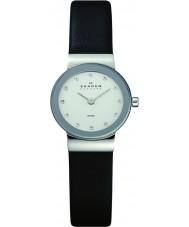 Skagen 358XSSLBC Damen klassik schwarzes Lederband Uhr
