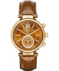Michael Kors MK2424 Damen Säger Chronograph Whisky Lederband Uhr