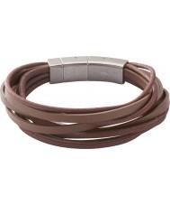Fossil JF86202040 Mens Multi Wrap braun Armband