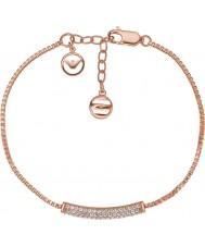 Emporio Armani EG3260221 Damen stelle reine pflastern Silber Armband vergoldet Sterling stieg