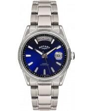 Rotary GB02660-05 Herren-Uhren havanna blau silberne Uhr