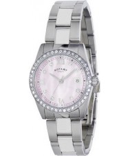 Rotary LB02343-07 Damen Timepieces havanna Kristall-Set Uhr