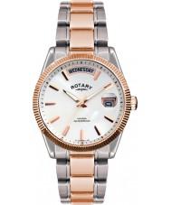 Rotary GB02662-06 Herren-Uhren havanna Silber stieg goldene Uhr