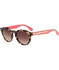 Fendi Farbblock ff 0085-s hK3 d8 havanna rosa Sonnenbrille