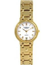Krug-Baumen 5116DM Charleston 4 Diamant-weißes Zifferblatt Gold Band