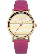 Daisy Dixon DD009PG Damen Mohn Gold rosa Lederband Uhr