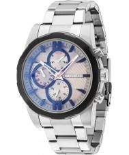 Police 14541JSTB-13M Herren matchcord Silber Stahl Armbanduhr