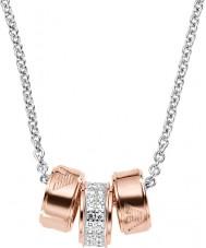 Emporio Armani EG3045040 Damen Unterschrift stieg Goldkette mit Silber rolo Kette