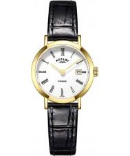 Rotary LS05303-01 Damen Uhren windsor vergoldet schwarz Lederband Uhr