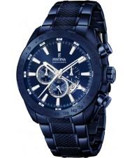 Festina F16887-1 Mens Prestige blau Stahl-Chronograph