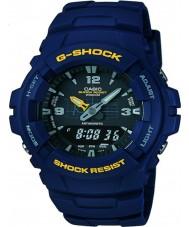 Casio G-100-2BVMUR Mens g-shock blau Harz Bügeluhr