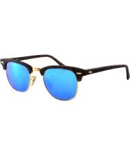 RayBan RB3016 49 Clubmaster Sand Schildpatt-gold 114517 blaue Sonnenbrille Spiegel