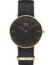 Daniel Wellington DW00100150 Klassische schwarze cornwall 36mm Uhr