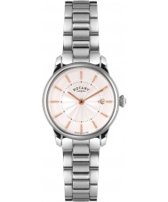 Rotary LB02770-07 Damen Uhren locarno Silber Stahl-Uhr