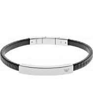 Emporio Armani EGS2063040 Mens Unterschrift schwarz Carbon-Stahlarmband