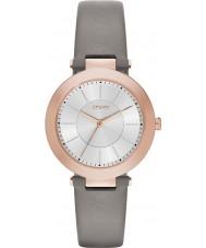 DKNY NY2296 Damen Stanhope 2.0 mattgraue Lederband Uhr