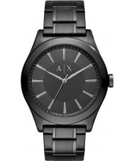 Armani Exchange AX2322 Männer Kleid aus schwarzem Stahl-Armbanduhr