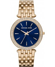 Michael Kors MK3406 Damen Darci marineblau vergoldet Uhr
