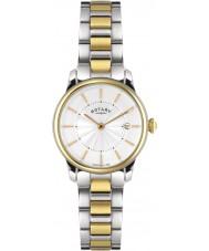 Rotary LB02772-06 Damen Uhren locarno Ton zwei Stahl-Uhr