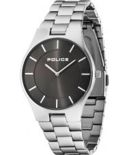 Police 14640MS-61M Herren Glanz Silber Stahl Armbanduhr