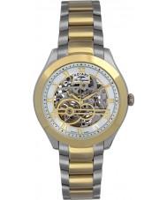 Rotary GB90515-10 Herren-les originales jura Silber Gold Automatik-Uhr