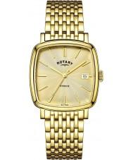 Rotary GB05308-03 Herren-Uhren windsor Champagner vergoldet Uhr