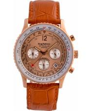 Krug-Baumen 400704DS Air Reisenden Diamant Orange Lederband Uhr