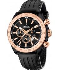 Festina F16899-1 Mens Prestige schwarzes Leder Chronograph
