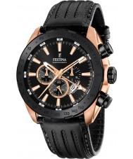 Festina F16900-1 Mens Prestige schwarzes Leder Chronograph