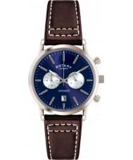 Rotary GS02730-05 Herren-Uhren Sport Rächers blau braun Chronograph