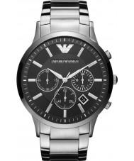 Emporio Armani AR2460 Mens klassische Chronograph schwarz silberne Uhr