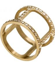 Edblad 3153441916-XS Damen helena gelb vergoldet Ring mit CZ - Größe L (xs)