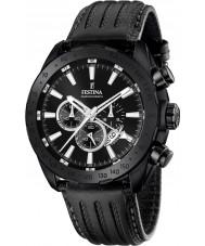 Festina F16901-1 Mens Prestige schwarzes Leder Chronograph